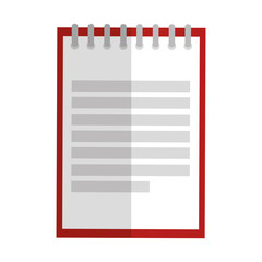 notebook school education icon