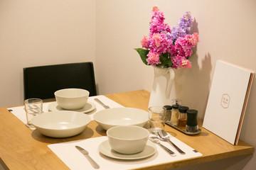 dining corner for two in condominium