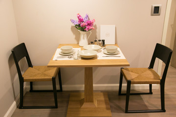 dining corner for two in condominium