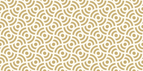 Background pattern seamless design gold color round abstract vector.
