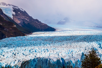 The glacier Perito Moreno on Lake Argentino