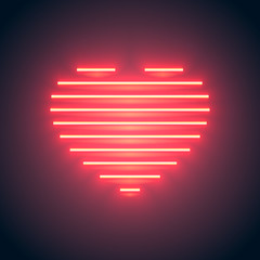 neon line heart