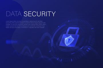 Business and finance. Vector illustration for cyber security, data analysis or data technology.