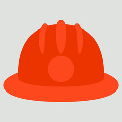 firefighter helmet , vector illustration , flat