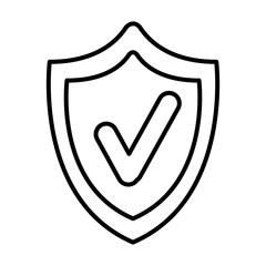 shield security with ok symbol