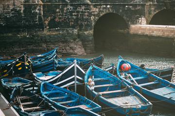 Fishing boats anchored in essaouira