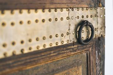 Details of a wood door in Morocco