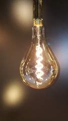 vintage light bulb in vintage style in a retro atmosphere