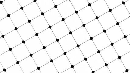 3D render - ceramic black and white kitchen/bathroom floor tiles background
