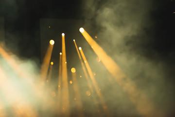 Warm stage lights smog Wall mural