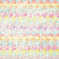 Grunge scratched digital paper with a candy pattern