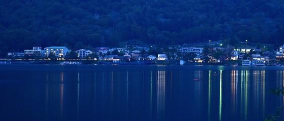 中禅寺湖畔の夜景@奥日光 栃木