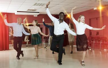 People dancing tap dance