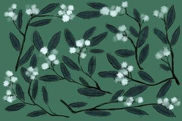 floral olive pattern design