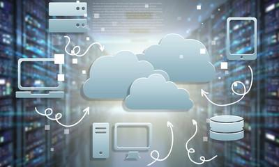 Digital web network icons on background