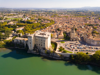 Aerial view of Chateau de Tarascon