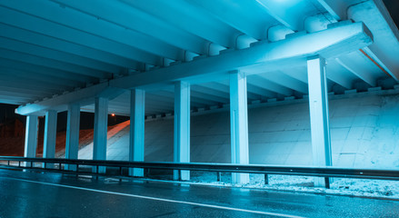 construction  bridge light blue transportation night architecture