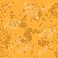 Vector seamless sport pattern with ink blots and brush strokes. Colorful creative sport pattern, blots, brush style. Creative seamless pattern and vector blots, brush, strokes. Grunge camouflage print