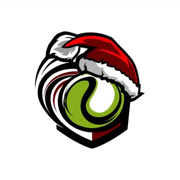 Tennis Santa Badge