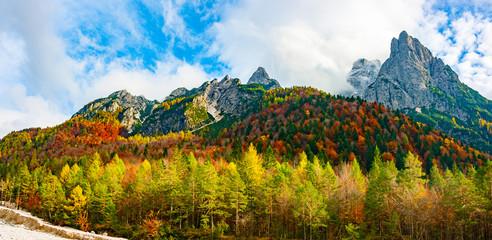 Jof di Montasio and Val Dogna in autumn