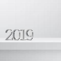 Vector text Design 2019.