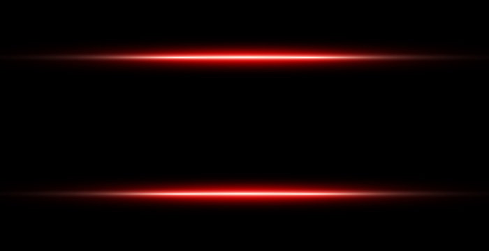 Neon Red Lights Line Frame Isolated On Black Background. Vector Illustration