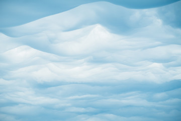 Beautiful clouds on blue sky background