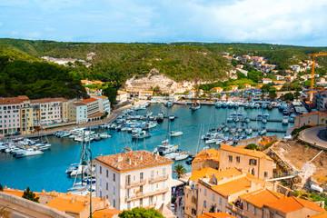 port of Bonifacio, in Corsica, France