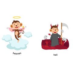 Opposite heaven and hell vector illustration