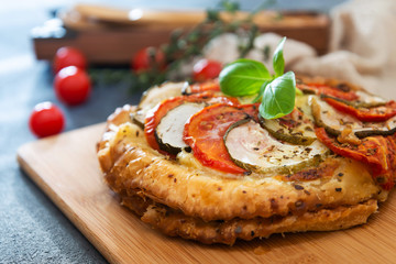delicious scallops and vegetables pie