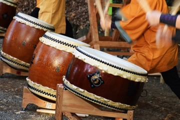 Traditional Japanese drum