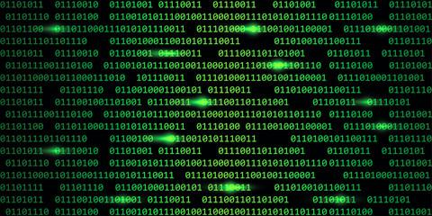 green digital binary code web technology background vector illustration EPS10