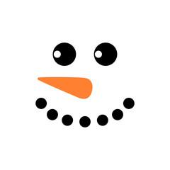 Cute snowman face - vector. Snowman head. Vector illustration isolated.