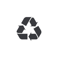 Vector recycle icon. Recycle symbol shape. Design element