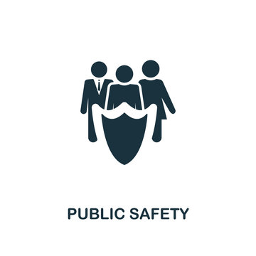 Public Safety icon. Premium style design from urbanism icon collection. UI and UX. Pixel perfect Public Safety icon for web design, apps, software, print usage.