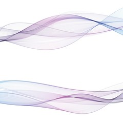 Abstract motion smooth color wave vector. Set of Curve colorful lines. eps 10