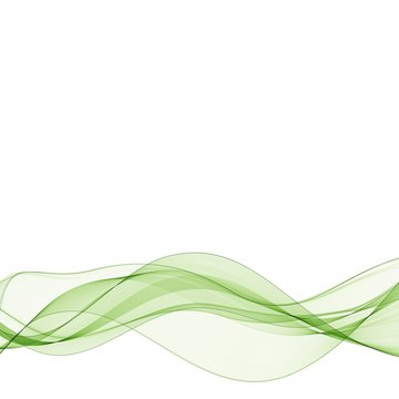 Vector illustration Abstract colorful background with green smoke wave. eps 10