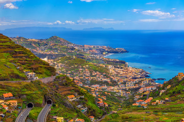 Beautiful landscape, Madeira island, Funchal capital, Portugal Fototapete