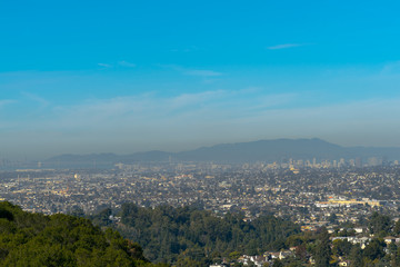 panoramic view of the Oakland and San Francisco
