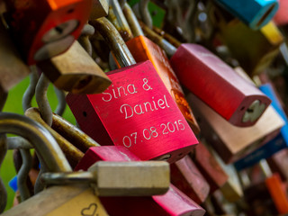 a red padlock - signs of love