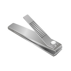Vector isolated illustration of realistic nail clipper.