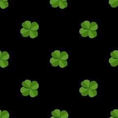 Vector seamless clover pattern. Clover