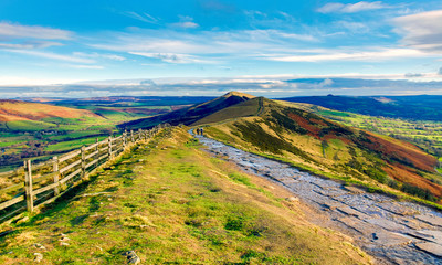 views from Mam Tor and the great ridge, Castleton, Derbyshire