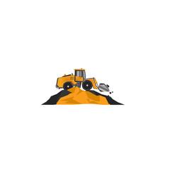 Vector construction bucket loader.