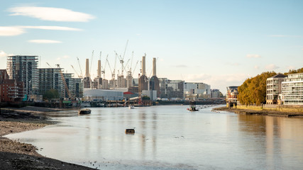 The River Thames and Battersea Power Station