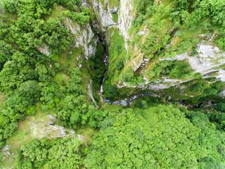 Aerial view of canyon Nevidio in Montenegro.Europe
