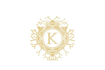 Initial K, Wedding boutique Logo Designs Inspiration Isolated on White Background