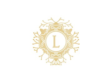 Initial L, Wedding boutique Logo Designs Inspiration Isolated on White Background
