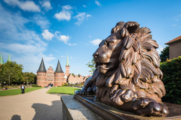 Holsten Gate in Luebeck, Germany.