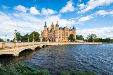Schwerin palace or Schwerin Castle, northern Germany.